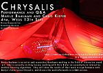 Poster advertising Chrysalis with Marije Baalman and Chris Kiefer