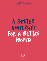 Booklet cover - Sussex 2025 Strategic Framework - A better University for a better world