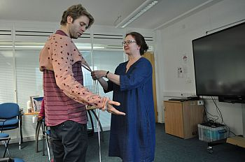 Director Peter Cant and Prof Jackie Cassell in research workshop [please do not use without asking Ed Hughes in Music]