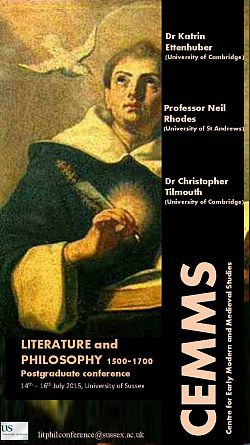 Saintly portrait, title Literature and Philosophy conference poster