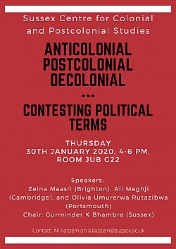 Anticolonial, Postcolonial, Decolonial - poster