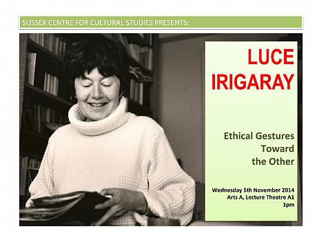 Luce Irigaray guest lecture poster