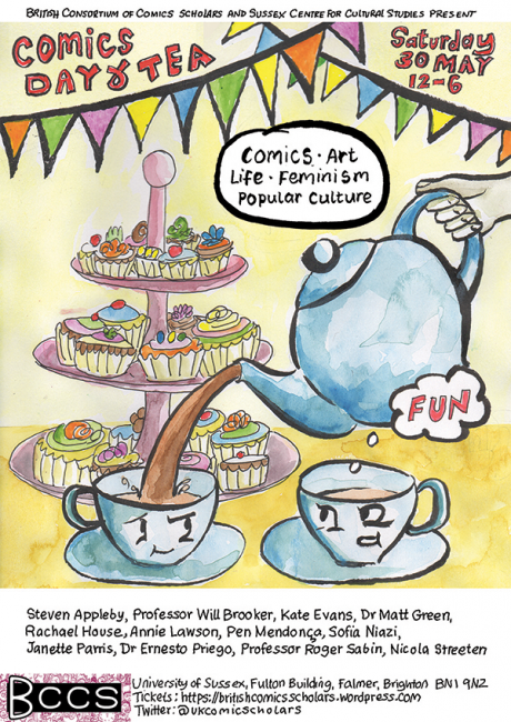 Comics Tea Party flyer