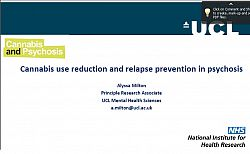 Title slide for Cannabis use and psychosis presentation