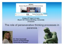 Poster for Dr. Kate Cavanagh's SPRiG presentation, 27th April 2012, University of Sussex
