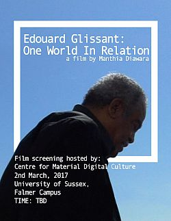Poster for the screening of a documentary film