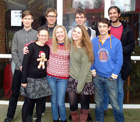 Cloke research group at Christmas lunch event 2013