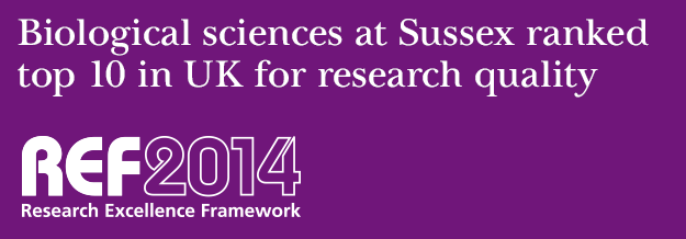 Biological sciences at Sussex ranked top 10 in UK for research quality - REF 2014