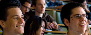 Students in a lecture theatre on campus