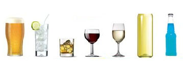 Picture of glasses of alcoholic drink
