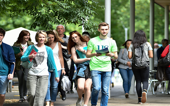 University of Sussex Undergraduate Open Day on campus