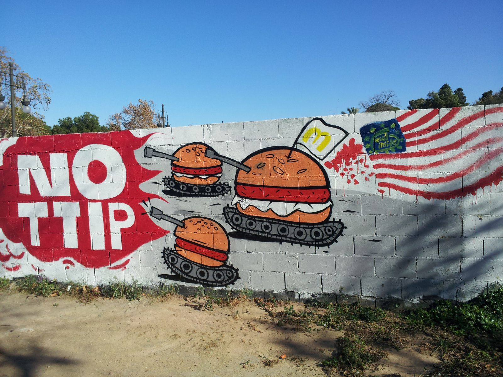 TTIP graffiti in Valencia