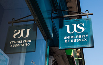University of Sussex shop sign
