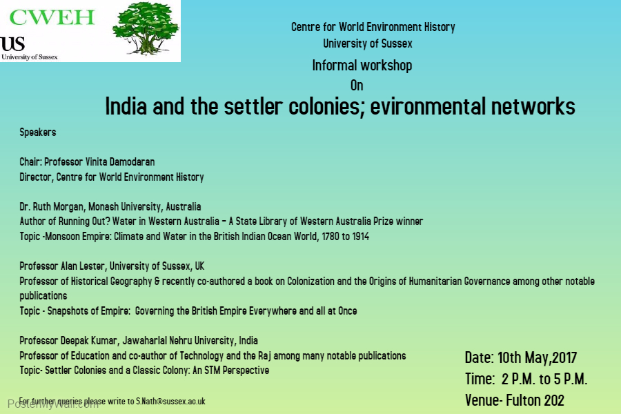 India and the Settler Colonies - Environmental Networks