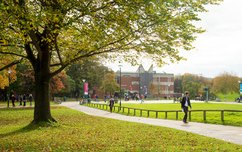 Library Square on the University of Sussex campus