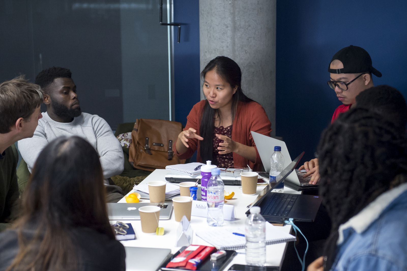 Students in the Department of Strategy and Marketing discuss ideas during a seminar in the Jubilee Building