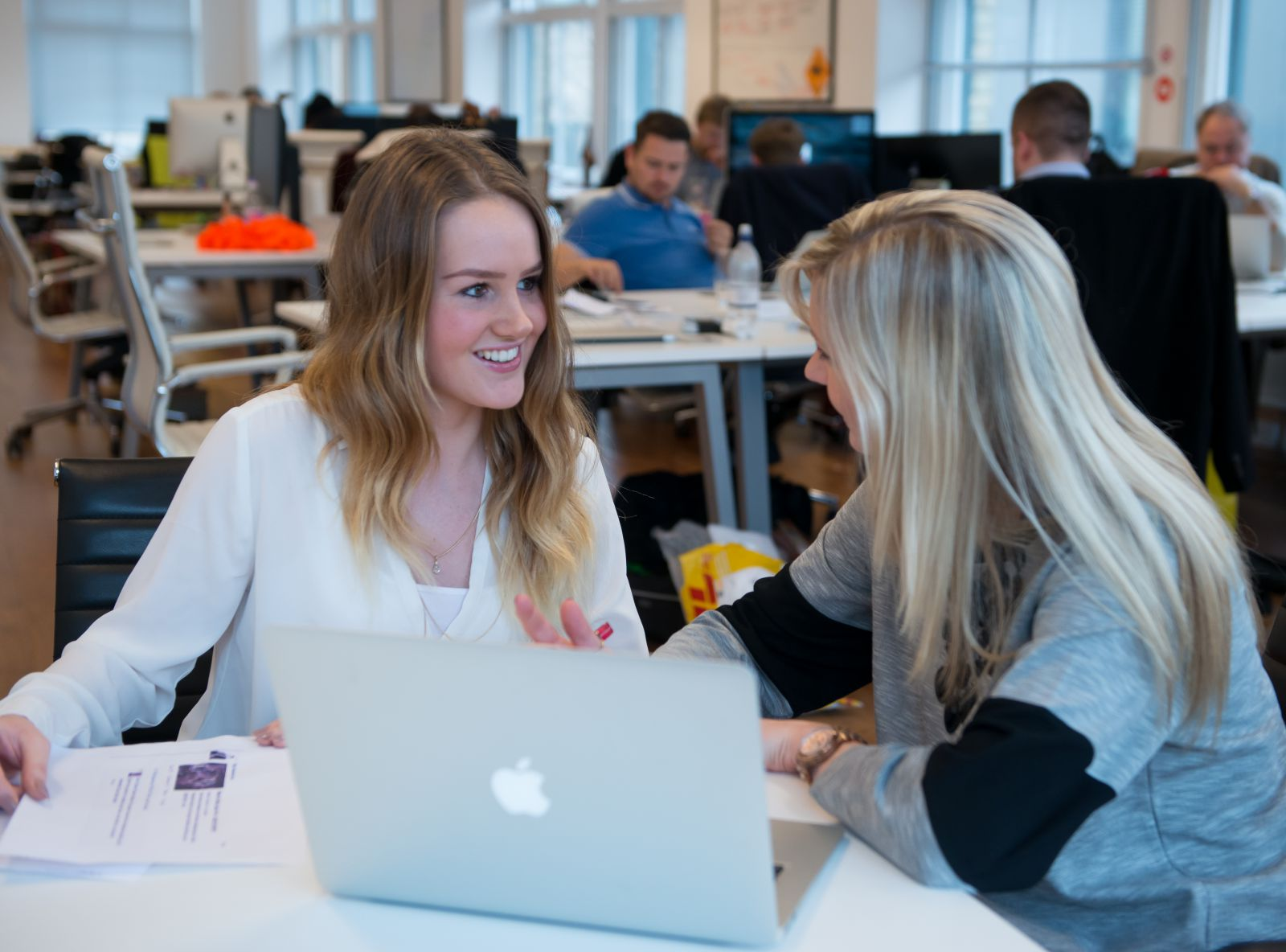 Placement student Jessica Williams with her placement employer at EngageSciences, London