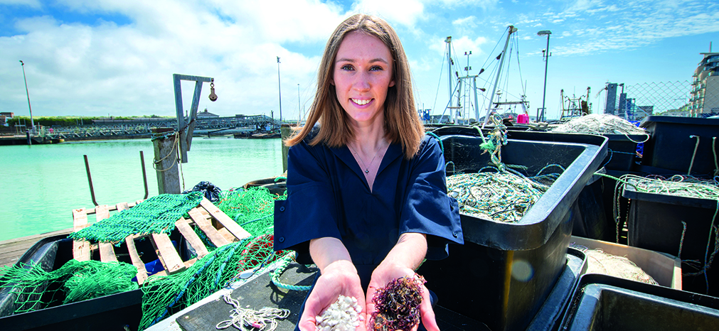 Award-winning product designer Lucy Hughes at Newhaven Harbour
