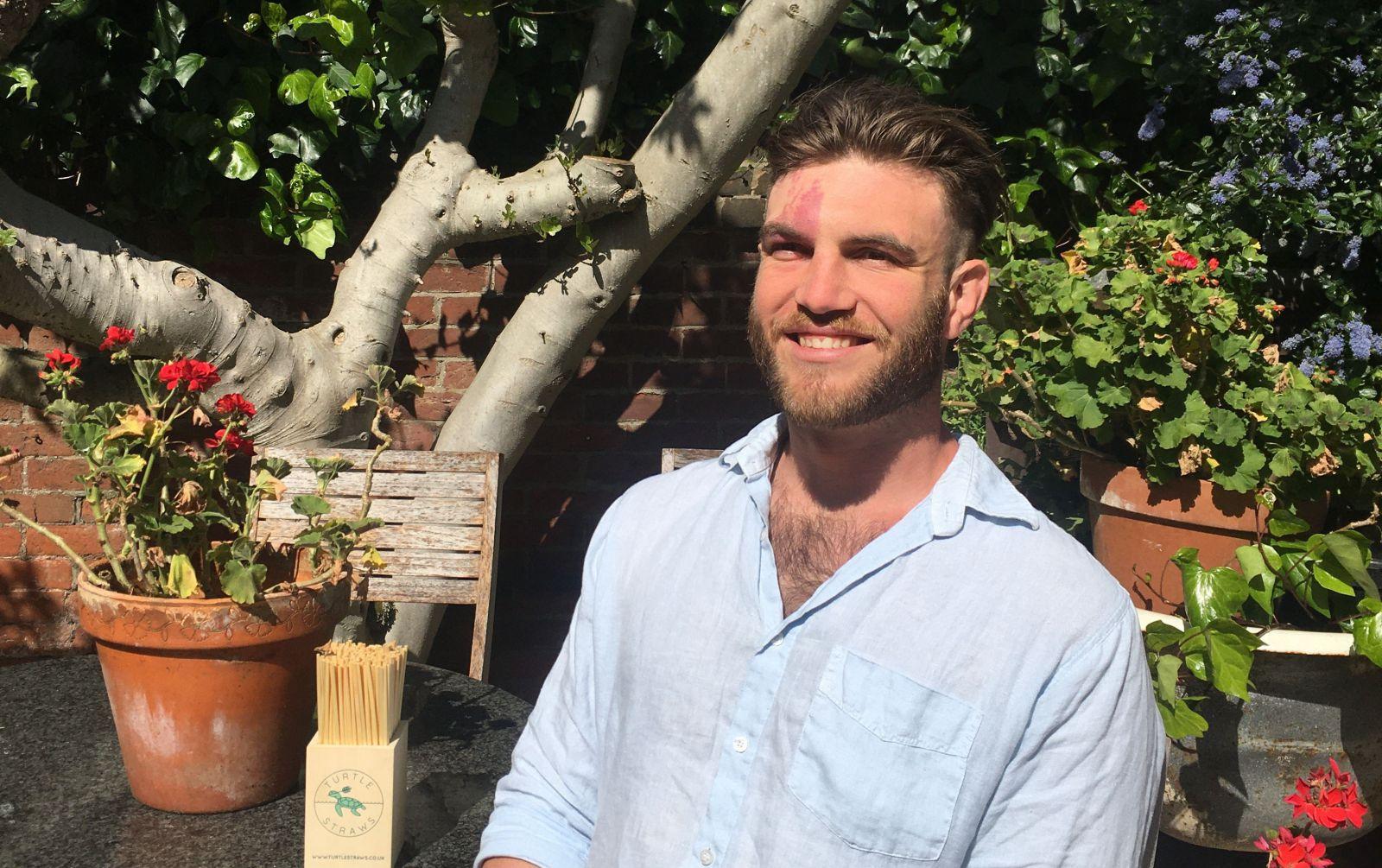 Alex Bruce in garden