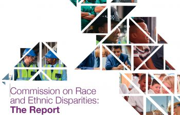 part of front cover of Sewell report