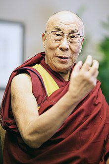 Image of the Dalai Lama looking ahead