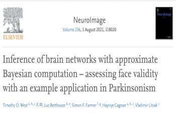 Snapshot of the title and author list on the Neuroimage website