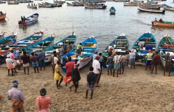 Fishers in southern India, a photo from the SSRP project on tools for safe and sustainable artisanal fishing