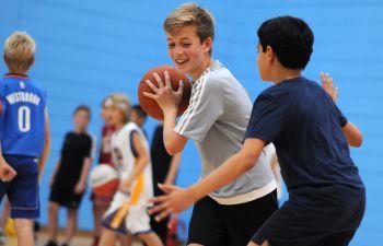 Children play Basketball in the University's Sport Centre