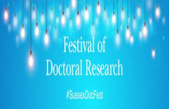 Festival of Doctoral Research logo #SussexDocFest