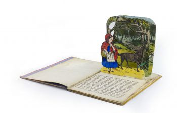 Pop-up illustration to Little Red Riding Hood, published in Dean and Son's New Scenic Books series circa 1856.