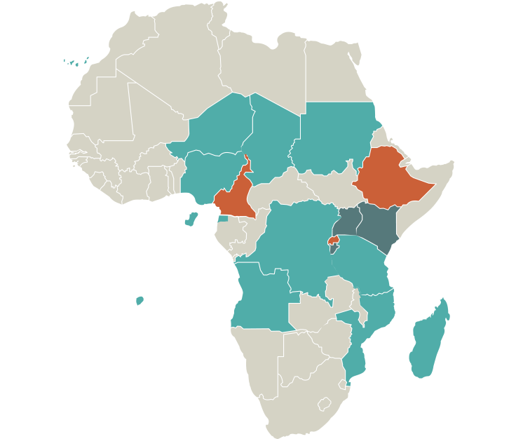 Mapping podoconiosis in Africa