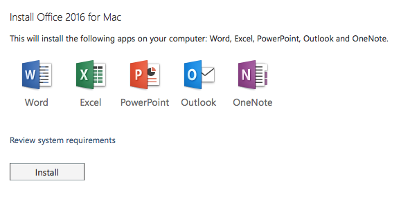 download word excel powerpoint for mac