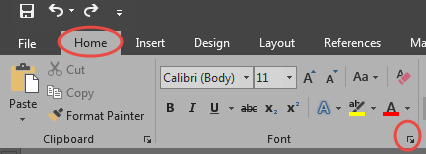 how to change default font in word 2016 pc