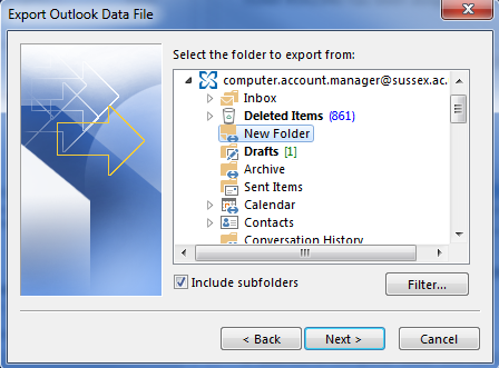 1456  How to use Outlook Data Files to make offline copies of mail