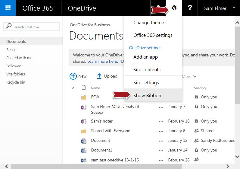 change onedrive folder location