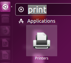 Finding print queue in Ubuntu Unity