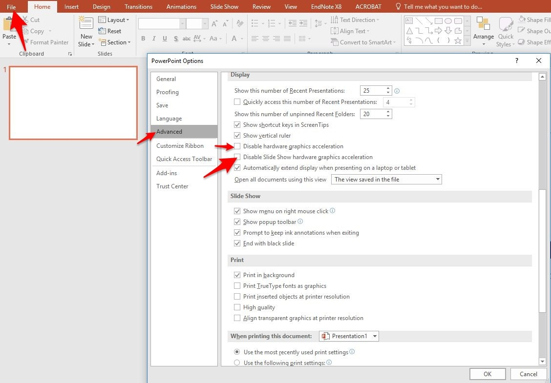 Guide to resolve Powerpoint issue on Dell Optiplex 7010