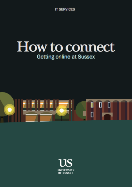 cover of connection booklet: red cutout figures on a dark background