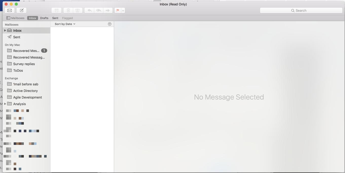 blank inbox