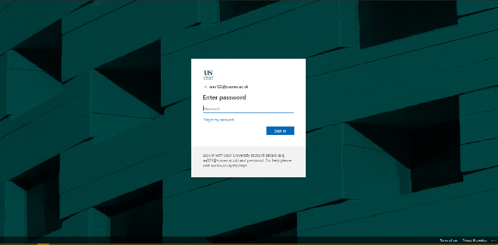 The new office 365 authentication screen