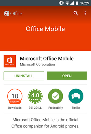 download microsoft store for android