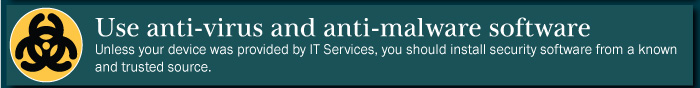 Anti virus and anti-malware software