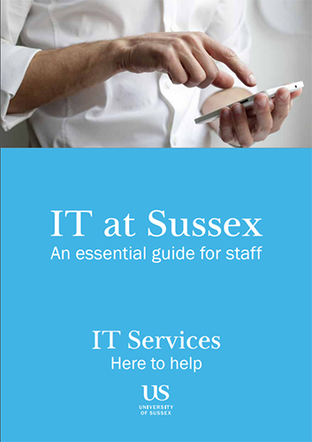 cover of the guide book Information technology at Sussex