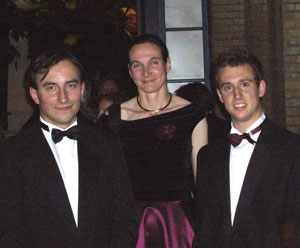 Senior Lecturer Dr Claudia Eberlein with Robert and Paul