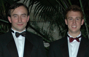 National Physical Laboratory Award for the Best Physics Student Paul Skrzypczyk right with Robert Zietal