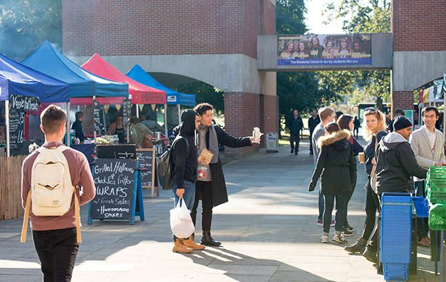 Street food market on Sussex campus