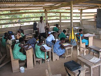 A classroom in Africa