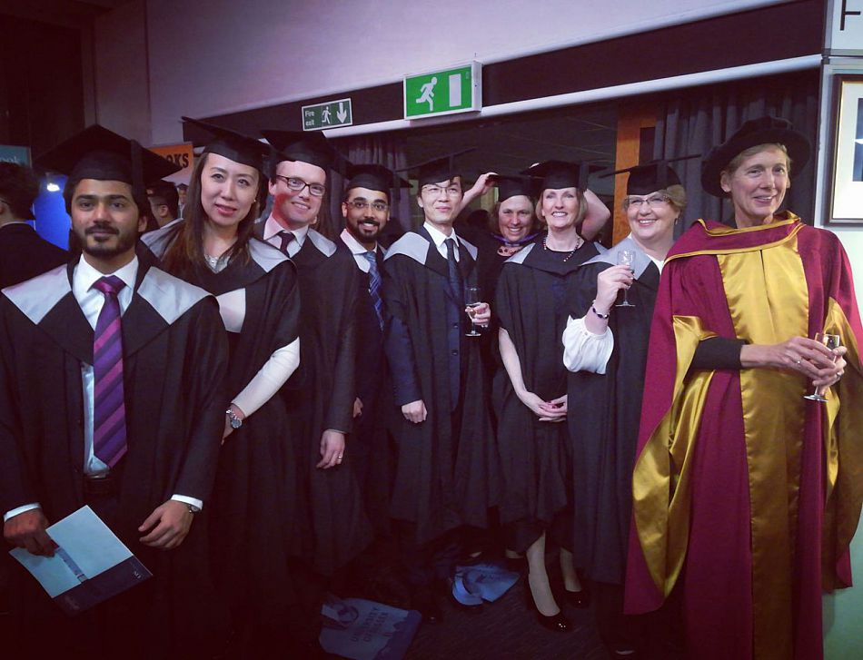 MBA graduates at graduation