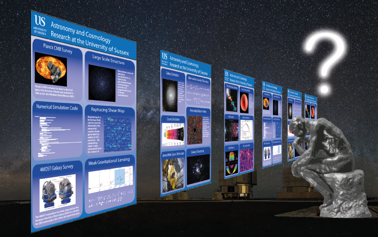 Depicting conference posters about Sussex Astronomy