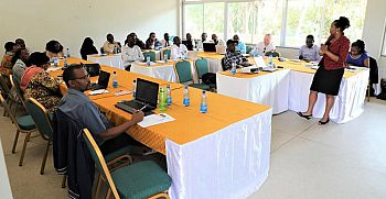 Fig 6: Workshop in Kitui in which stakeholders evaluated forecasts and early actions based on forecasts